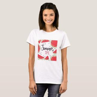 Camiseta Sandía del tiempo de verano