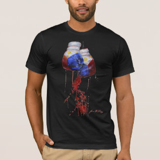Camiseta Sangre de la oscuridad filipina del guerrero