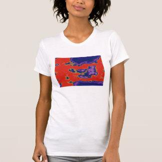 Camiseta Sangre de la tinta del terciopelo