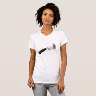 Camiseta sangrienta del cuchillo