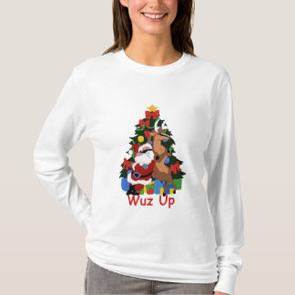 Camiseta Santa y reno frescos