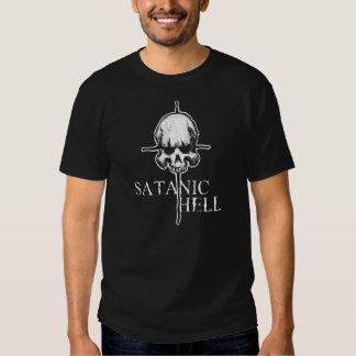 Camiseta satánica de la cruz del cráneo del