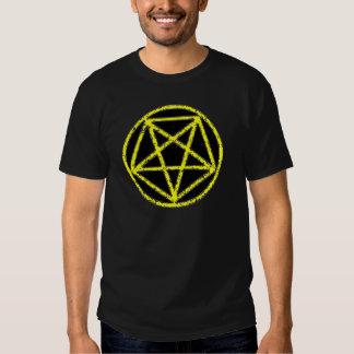 Camiseta satánica del símbolo de la estrella del