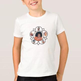 Camiseta Sathya Sai Baba Sarva Dharma Symbo en niños de la