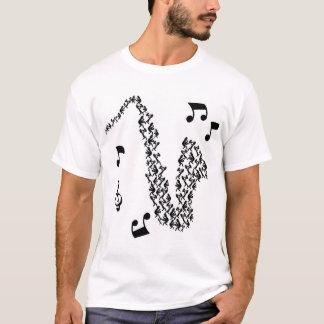 Camiseta saxo que juega a hombres