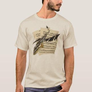 Camiseta Saxofón y música del piano