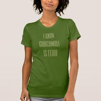 Camiseta sé que el guacamole es adicional
