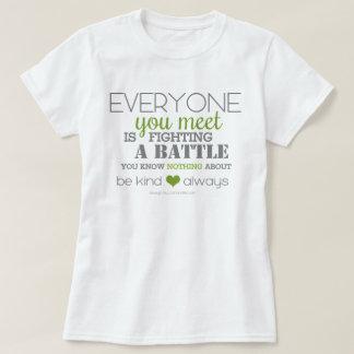 Camiseta Sea bueno siempre (el verde)