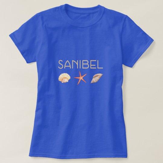 Camiseta Seashells de la Florida de la isla de Sanibel