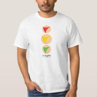 Camiseta Semáforo amarillo destacado - blanco