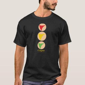 Camiseta Semáforo amarillo destacado - negro