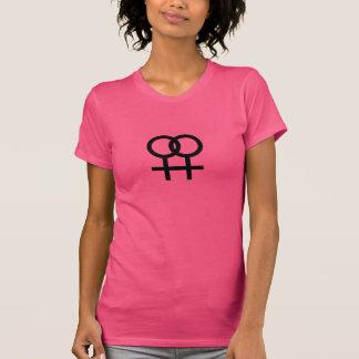 Camiseta Semana lesbiana del orgullo del símbolo