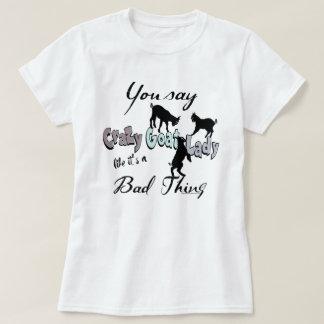 Camiseta Señora loca DIVERTIDA Cool Pastels de la cabra de