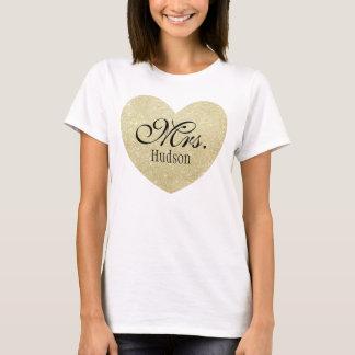 Camiseta Señora personalizada Corazón-Impresión del brillo