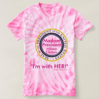 Camiseta Señora presidente Hillary Clinton estoy CON ELLA
