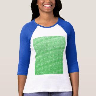 Camiseta Señoras 3/4 raglán de la manga cabido