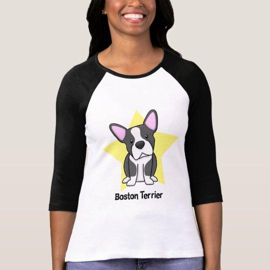 Camiseta Señoras de Boston Terrier de la estrella de Kawaii