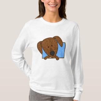 Camiseta Señoras enmarcadas del perro de Plott del dibujo