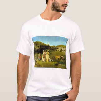 Camiseta Señoras jovenes de Gustave Courbet del pueblo