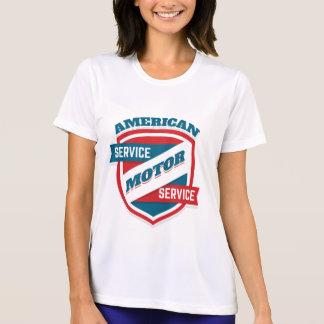 Camiseta Servicio americano del motor. Vintage americana