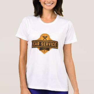 Camiseta Servicio del coche. Vintage americana