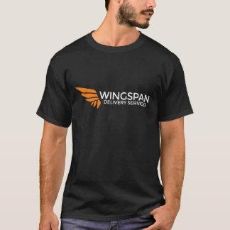 Camiseta Servicios de entrega de la ENVERGADURA logotipo y