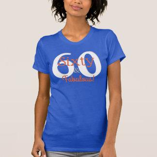 Camiseta Sesenta y 60.o trullo y naranja felices fabulosos