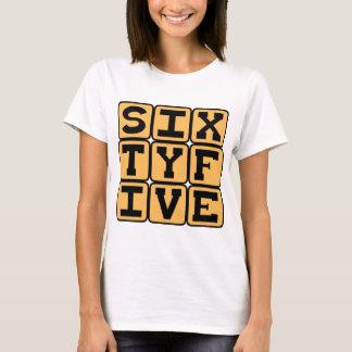 Camiseta Sesenta y cinco, número 65, edad del retiro