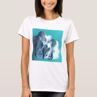 Camiseta Setas de ostra en azul