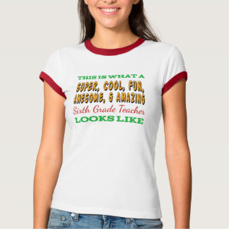 Camiseta Sexto profesor impresionante del grado del