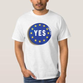 Camiseta Sí a la UE - estancia en la unión europea