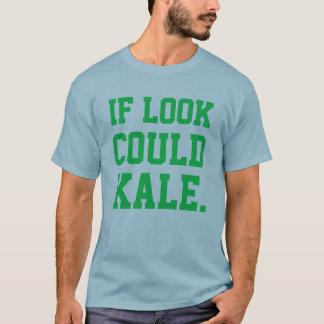 Camiseta Si podría la mirada diversión de la col rizada