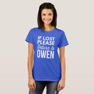 Camiseta Si por favor perdida vuelta a Owen