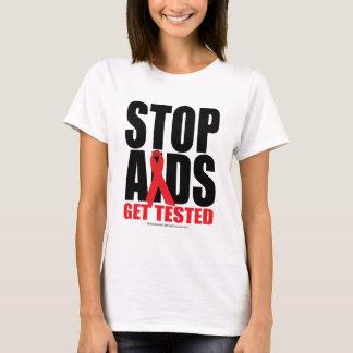 Camiseta SIDA de la parada: Consiga probado