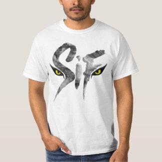 Camiseta Sif, la gran tipografía del lobo gris