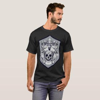 Camiseta significativa del cráneo del bloque gris