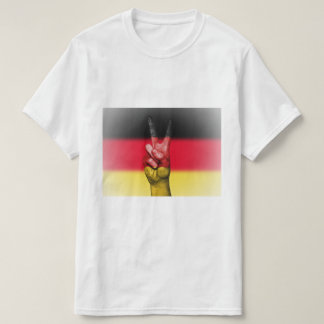 Camiseta Signo de la paz alemán de la bandera - patriótico