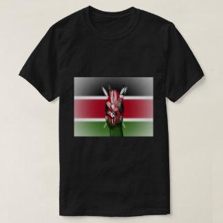 Camiseta Signo de la paz de la bandera de Kenia -