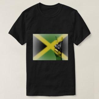 Camiseta Signo de la paz jamaicano de la bandera -