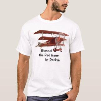 Camiseta ¡Silencio! El barón rojo está pensando
