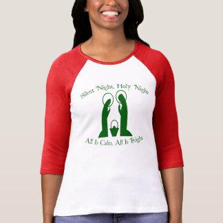 Camiseta silenciosa del raglán de las señoras de