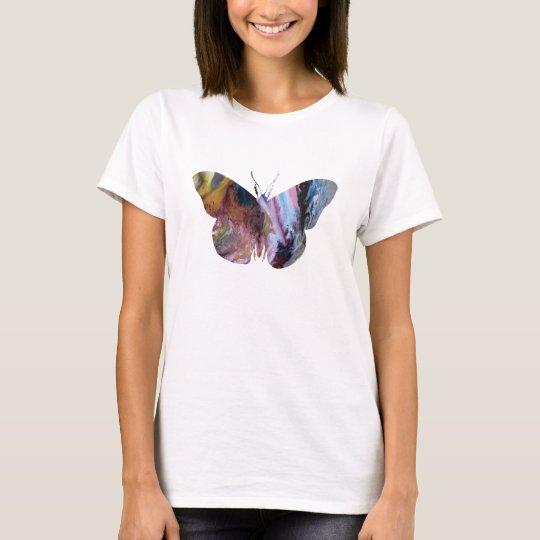 Camiseta Silueta abstracta de la mariposa