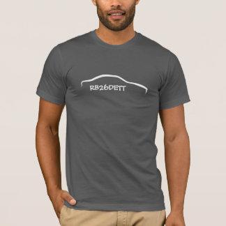 Camiseta Silueta blanca del horizonte - código del motor de