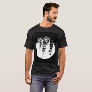 Camiseta Silueta blanca negra de las glicinias por
