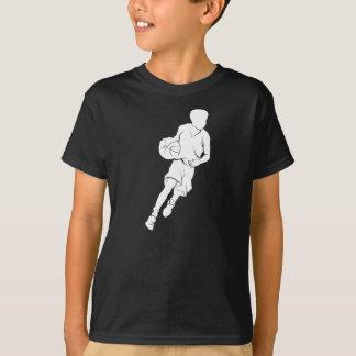 Camiseta Silueta de goteo del muchacho del baloncesto