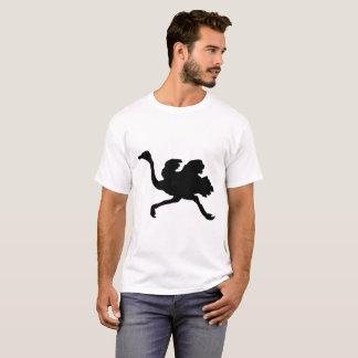 Camiseta Silueta de la avestruz