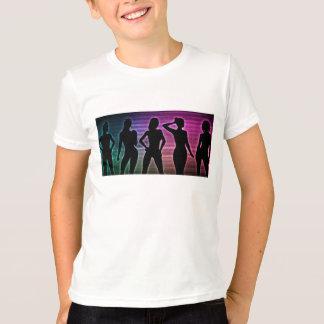 Camiseta Silueta del fiesta de la playa de las mujeres que