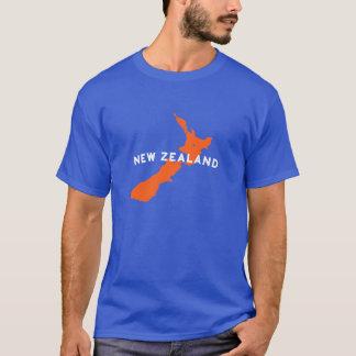 Camiseta Silueta del país de Nueva Zelanda