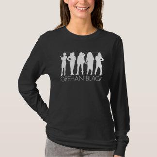 Camiseta Silueta huérfana del carácter del negro el |