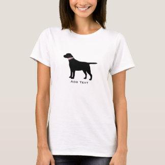 Camiseta Silueta negra de muy buen gusto personalizada del